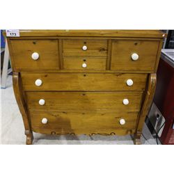 BEAUTIFUL ANTIQUE SEVEN DRAWER EMPIRE STYLE DRESSER