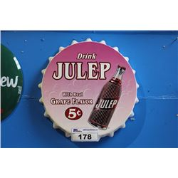 DRINK JULEP METAL POP SIGN REPRODUCTION
