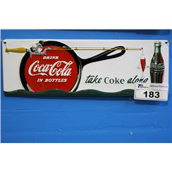 TIN COCA COLA SIGN REPRODUCTION