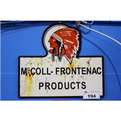 RED INDIAN MCCOLL - FRONTENAC PRODUCTS SIGN REPRODUCTION