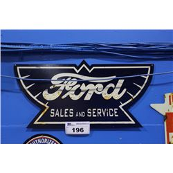 FORD SALES SERVICE TIN SIGN REPRODUCTION