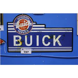 BUICK AUTHORIZED SERVICE TIN SIGN REPRODUCTION