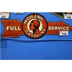 MOHAWK GASOLINE FULL SERVICE TIN SIGN REPRODUCTION