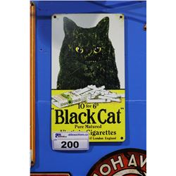 BLACK CAT CIGARETTES TIN SIGN REPRODUCTION
