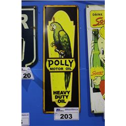 POLLY MOTOR OIL TIN SIGN REPRODUCTION