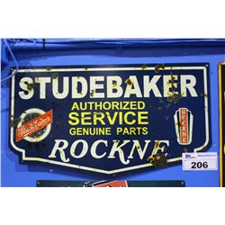 STUDEBAKER AUTHORIZED SERVICE TIN SIGN REPRODUCTION