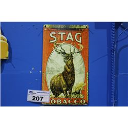 STAG TOBACCO TIN SIGN REPRODUCTION