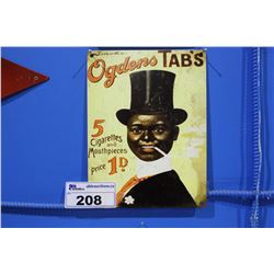 OGDENS TABS TIN SIGN REPRODUCTION