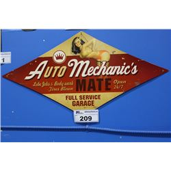 AUTO MECHANIC'S TIN SIGN