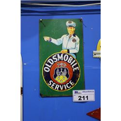 OLDSMOBILE SERVICE TIN SIGN REPRODUCTION