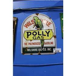 POLLY GAS TIN SIGN REPRODUCTION