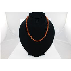 CERTIFIED ORANGE BALTIC AMBER NECKLACE, RICH DEEP ORANGE + HONEY YELLOW, INCLUDES CERTIFICATE