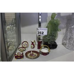 LOT OF LIMOGES COLLECTABLES AND CHINESE FIGURE