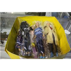 BOX OF BARBIES