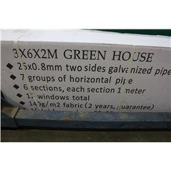 3M BY 6M BY 2M GREENHOUSE - NEW IN BOX