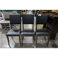 THREE SIDE CHAIRS