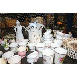 SHELF LOT OF MISC COLLECTABLE CHINA