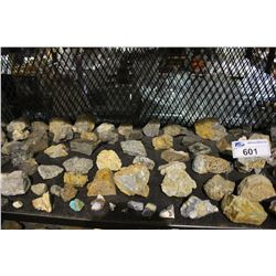 SHELF LOT OF MINERAL SAMPLES
