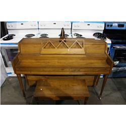 WARD APARTMENT SIZE PIANO WITH METRONOME