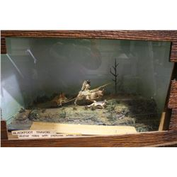 "DIORAMA BLACKFOOT TRAVOIS ""MOTHER RIDES WITH PAPOOSE AND SON"""
