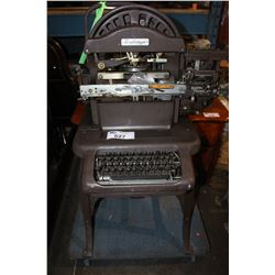 GRAPHOTYPE TYPEWRITER (DOLLY NOT INCLUDED)