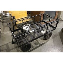 METAL GARDEN CART WITH ELECTRIC HEATER