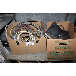 SHELF LOT OF LAPTOPS AND WIRING
