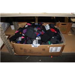 LARGE BOX OF BRAND NEW PACKAGED SOCKS