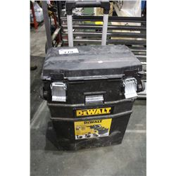 DEWALT ROLLING TOOL KIT AND CONTENTS