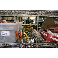 SHELF LOT INCLUDING HILTI EPOXY DISPENSER, AND MORE