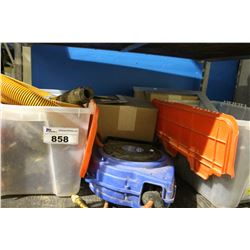 SHELF LOT OF MISC STORAGE LOCKER GOODS