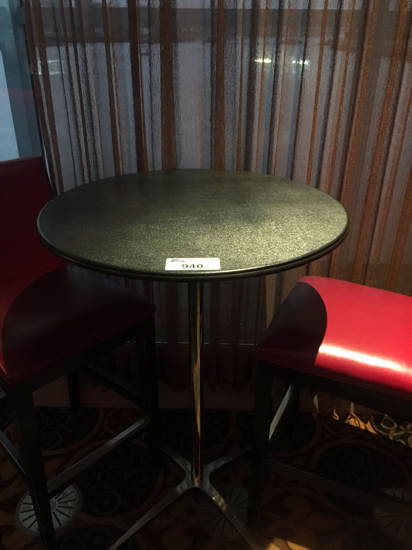 Bar height cocktail table able auctions for Height of cocktail tables