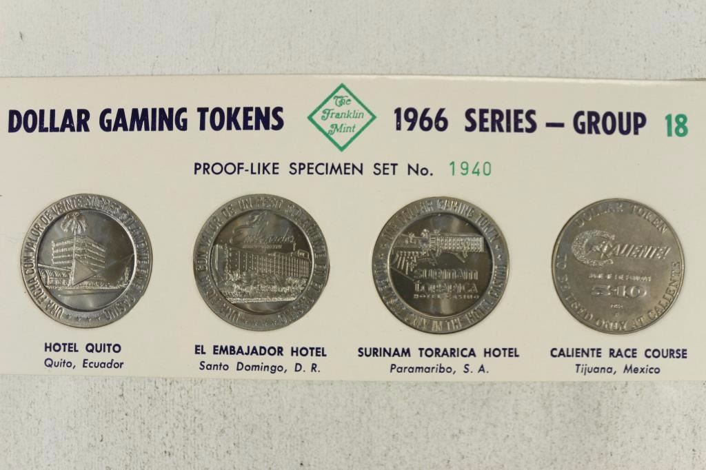 Image 1 1966 Series Group 18 Dollar Gaming Tokens