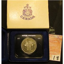 1871-1971 British Columbia encased Dollar in original box of issue. Brilliant Uncirculated.