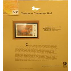 2002 Nevada Waterfowl Stamp $5.00, Mint Condition in plastic sleeve with literature, unsigned. Depic