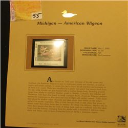 2002 Michigan Waterfowl Stamp $5.00, Mint Condition in plastic sleeve with literature, unsigned. Dep