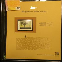2002 Maryland Waterfowl Stamp $9.00, Mint Condition in plastic sleeve with literature, unsigned. Dep