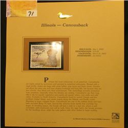 2002  Illinois Waterfowl Stamp $10.00, Mint Condition in plastic sleeve with literature, unsigned. D