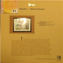 2002  Alaska Waterfowl Stamp $5.00, Mint Condition in plastic sleeve with literature, unsigned. Depi