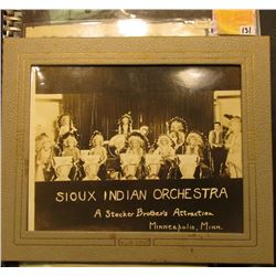 "Notebook containing Indian related items including ""Sioux Indian Orchestra A Stecker Brother's Attra"