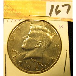 1998 P Kennedy Half Dollar, Gem Uncirculated.