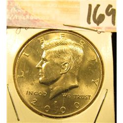 2000 P Kennedy Half Dollar, Gem Uncirculated.