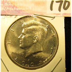 2008 D Kennedy Half Dollar, Gem Uncirculated.