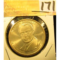 2014 Gem Uncirculated Warren Harding Presidential Dollar