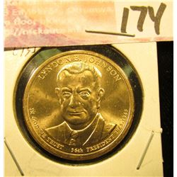 2015 P  Gem Uncirculated Lyndon Johnson Presidential Dollar