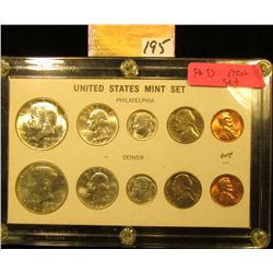 1964 P & D U.S. Mint Set in case. Includes .900 fine Silver coins.