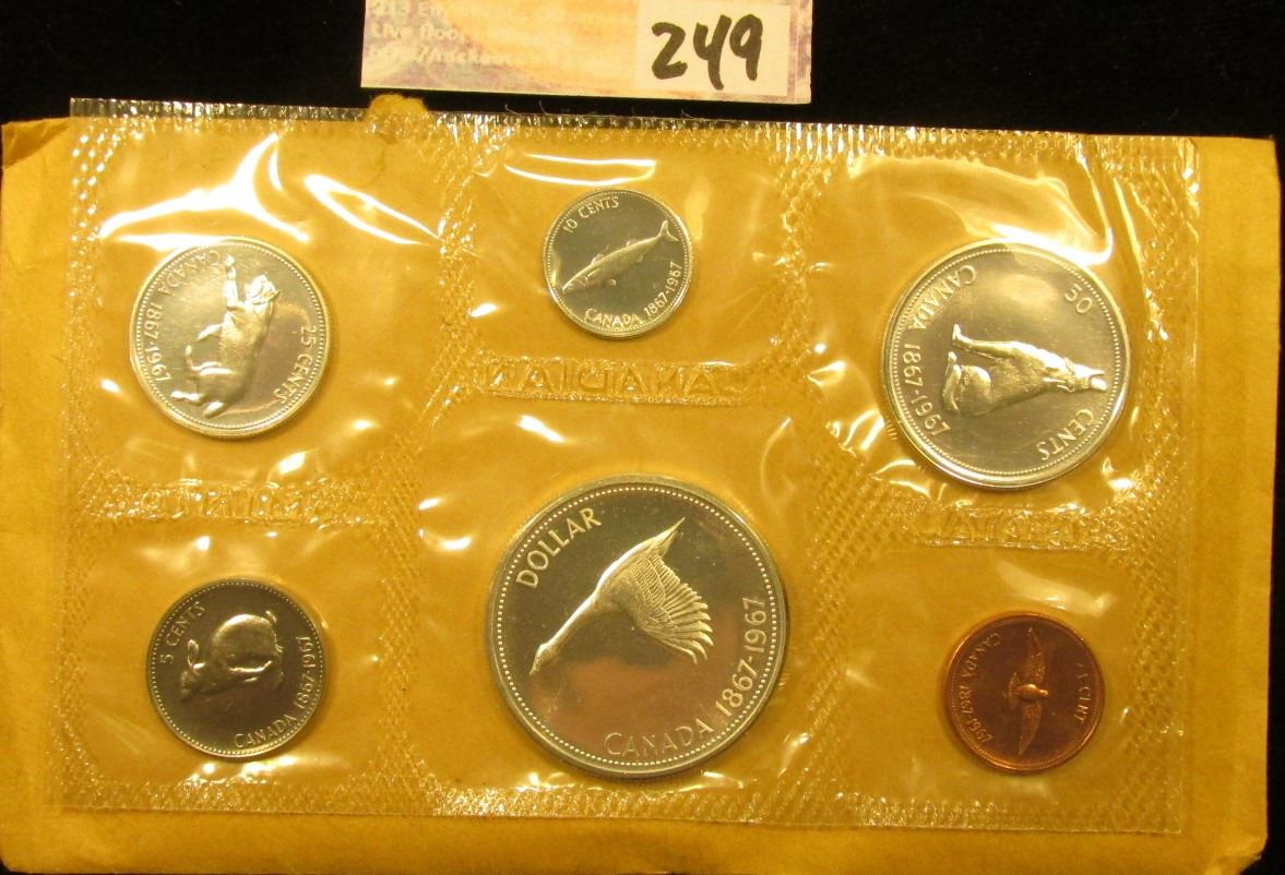 1967 uncirculated canadian coin set