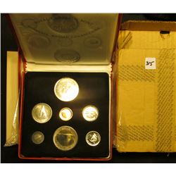 "1867-1967 Canada ""Confederation"" Commemorative Silver Prooflike Set in red simulated leather holder"