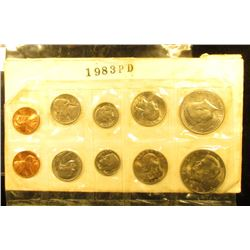 1983 P & D Gem BU Year Set in original cellophane. 10 pc. set.