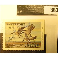 1979 Missouri Migratory Waterfowl Stamp, MO1, signed, EF.